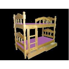"""Кровать детская """"Точенка"""" двухъярусная с ящиками"""