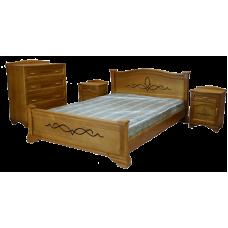 """Комплект """"Соната""""  из массива -  Кровать, 2 тумбы, комод"""