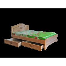 """Кровать из массива """"Сатория""""  с ящиками"""