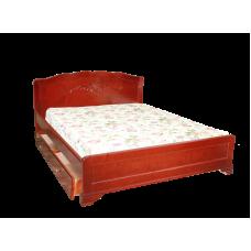"""Кровать  """"Муза"""" с ящиками из массива дерева"""