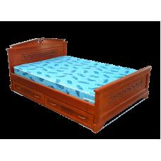 """Кровать  """"Афина"""" с ящиками из массива дерева"""