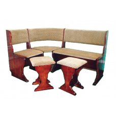"""Кухонный диван """"Надежда"""" + 2 табурета из массива"""
