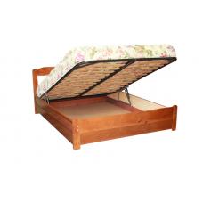 """Кровать  """"Дачная"""" с подъемным механизмом из массива"""