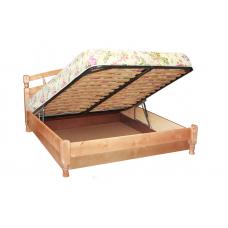 """Кровать """"Джулия"""" с подъемным механизмом из массива"""