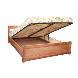 """Кровать  """"Лира"""" с подъемным механизмом из массива дерева"""