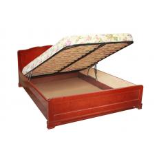 """Кровать  """"Муза"""" с подъемным механизмом из массива"""