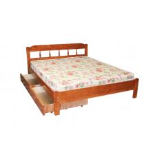 """Кровать  """"Дачная""""  с ящиками из массива"""