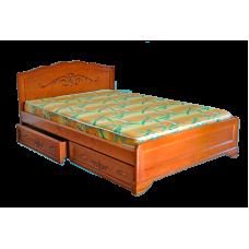 """Кровать из дерева """"Муза-2"""" c ящиками"""