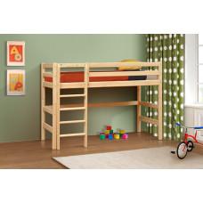 Кровать детская двухъярусная 5 деревянная