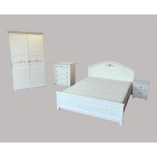 """Комплект """"Эмила"""" из массива  - Кровать,тумба,комод,шкаф"""